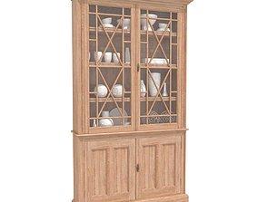 3D Lorfords antiques Oak Glazed Bookcases