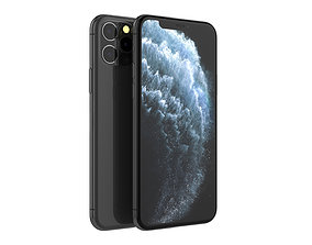 iPhone 11 Pro Gray 3D