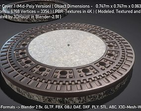 Sewer Cover 1 Mid-Poly Version 3D model