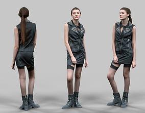 Biker Girl 3D model