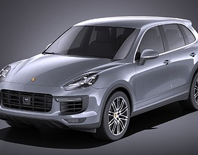 3D model Porsche Cayenne Turbo 2016 VRAY