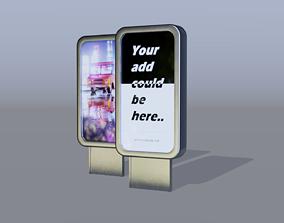 Billboard 3D asset realtime PBR