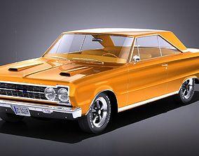 Plymouth GTX 1967 VRAY 3D