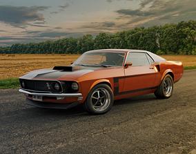 3D model 1969 Ford Mustang BOSS 302