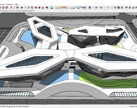 3D model Sketchup Cultural center G8 Exhibition Hall