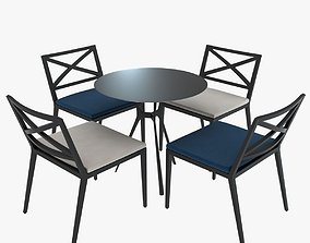 Janus Modern Table and Chairs 3D