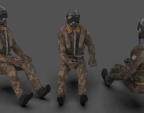 Pilot - T and Sitting Pose 3D model