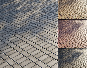 3D model Concrete paving slabs Type 11
