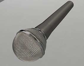 low-poly mic Microphone 3D