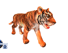 animated Tiger rigged Animated Lowpoly 3d model
