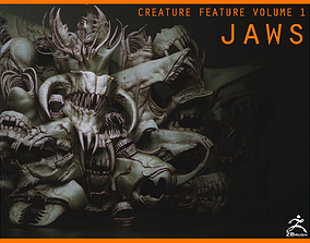 3D model JAWS - 33 Monster Mouths and Skulls with IMM