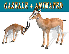Low poly Gazelle Animated - Game 3D asset VR / AR ready