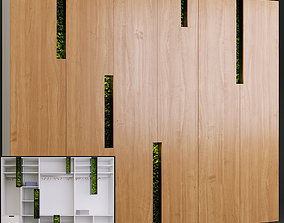 3D Wall cabinet with stabilized moss