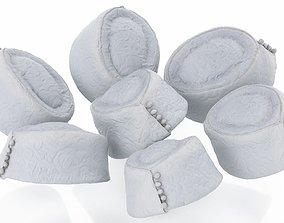 3D asset White Pattern Hat
