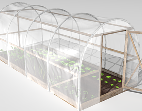 Plastic greenhouse 3D model