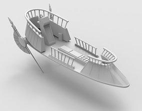 3D print model Jabba The Hut Sand Skiff Ship
