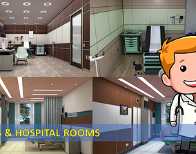 3D model MEDICAL SPACES CLINICS AND HOSPITAL ROOMS - 1