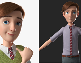 3D Cartoon Man Rigged