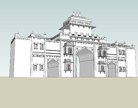 rigged indian jodhpuri stone ghanta ghar sumer gate 3d