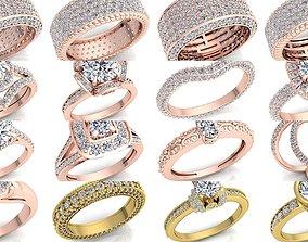 3D model Fancy Bulk Collection Diamond Ring