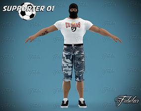 3D asset Supporter 01