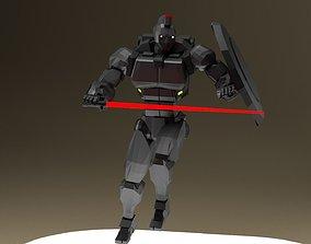 3D model rigged Spartan Class Mech Unit-01 Sator