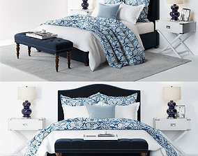 3D Pottery Barn Raleigh Bed 4 blue