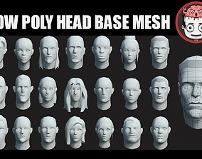 3D model Heads base meshes