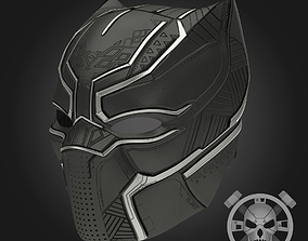 Black panther helmet from Captain 3D printable model 2