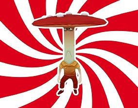 3D asset animated Mushroom
