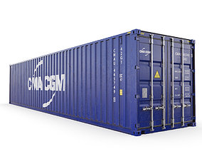 40 feet CMA-CGM standard shipping container 3D model