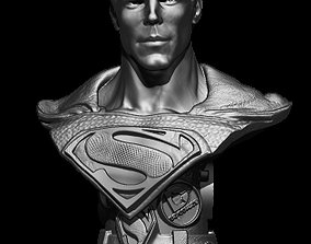 superman bust 3D printable model