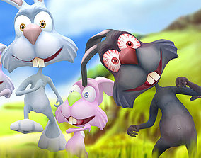 3DRT - Crazy Rabbits animated