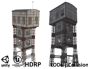 3D model Coal Mine Shaft Tower - KWK Polska I