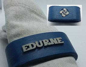 EDURNE 3D Napkin Ring with lauburu napkin