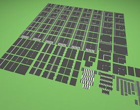 Types of roads 3D asset VR / AR ready