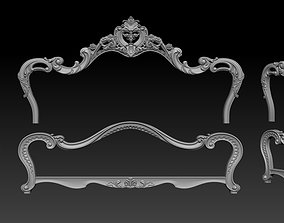Classic Bed 3D relief models router