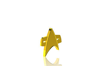 3D printable model Star Trek Badge