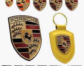 Porsche Crest History Collection 3D