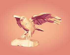 Polygonal Eagle Statue -- Ready for 3D Printing