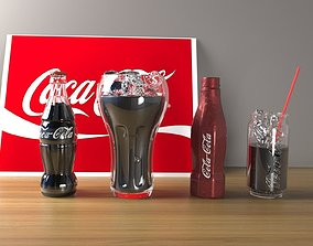 3D 4 options for Coca-Cola packages