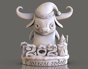 3D print model bull as a gift for the new year
