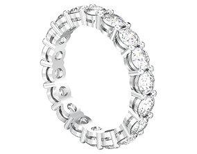 Round diamond eternity band ring 3D printable model