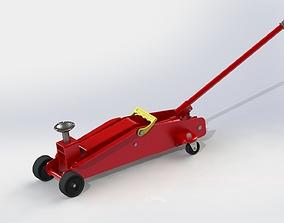 Hydraulic Rolling Jack 3D