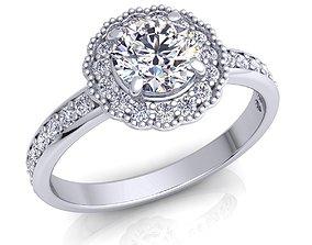 Ladies diamond 3D print model 6