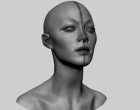 Female Head v7 3D model