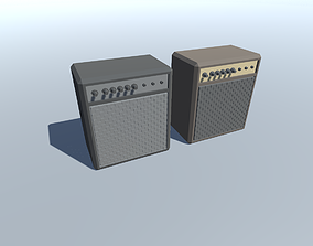 3D asset low-poly Eletric Guitar Amplifier Lowpoly