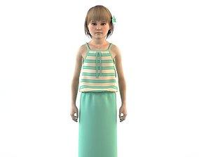 dedcated Girl dress t shirt skirt Baby clothes 3D model