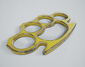 3D asset Brass Knuckles PBR Game Ready