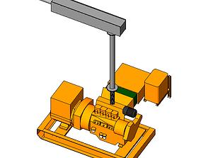 MOTOGENERADOR 3D model engineering